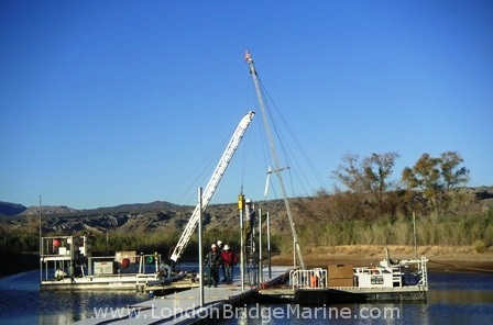 Pile Driving on the Colorado River in Laughlin, NV